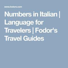 Numbers in Italian |