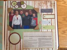 FFA scrapbooking I like the idea of having the newspaper articles in the scrapbook. #newspaper