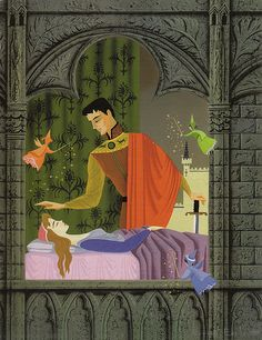 "Sleeping Beauty ""Big Golden Book"" Art by Eyvind Earle, 1957 by Miehana, via Flickr"