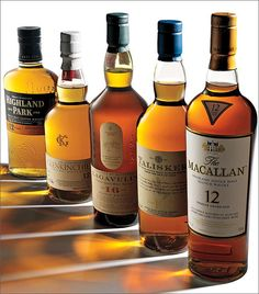 The beginner's guide to whisky and whiskey - Had all except for the Glenkilchie. Favorite is Lagavulin then Macallan Cigars And Whiskey, Scotch Whiskey, Bourbon Whiskey, Whiskey Bottle, Irish Whiskey, Whiskey Brands, Bourbon Drinks, Gin, Fun Drinks