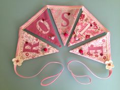 Personalised bunting for little Rosie's bedroom.