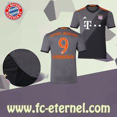 fc-eternel:Maillot Bayern Munich LEWANDOWSKI 9 Exterieur 2016/2017 Flocage Maillot Bayern Munich, Lewandowski, Football, Sports, Flocking, Baby Born, Woman, Soccer, Hs Sports