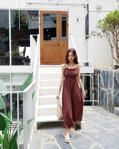 💕Wich by Hwa Korea Fashion, Asian Fashion, Fashion Beauty, Girl Fashion, Fashion Dresses, Pretty Outfits, Cute Outfits, Summer Outfits, Casual Outfits