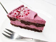 no-bake raspberry cake torte vegan gluten-free dairy-free egg-free recipe