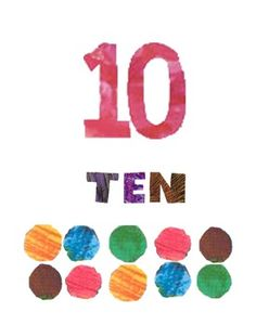Eric Carle Inspired Number Posters from Amy Biddison at Teachers Pay Teachers-- two dollars