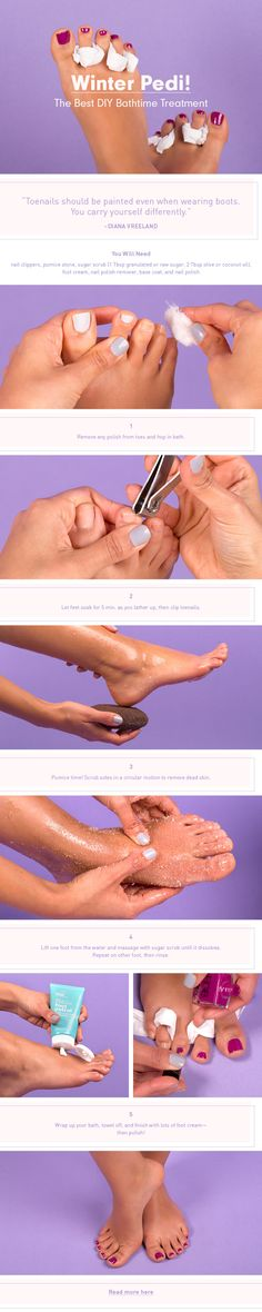 The Easiest DIY Winter Pedi