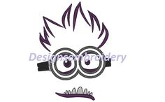 Evil  purple minion face 2 eyes  despicable by Designsembroidery, $3.69