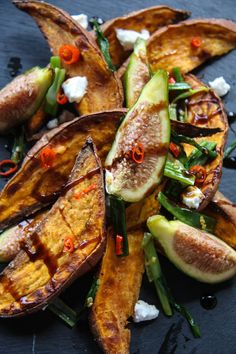 roasted sweet potatoes and fresh figs more potatoes fig roasted sweet ...