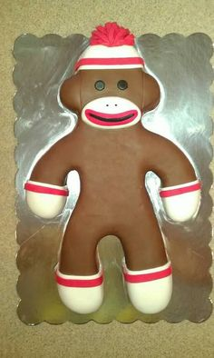 Sweet Sock Monkey cake