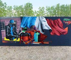 Do you watch the EM? -Wonderful work by @johnkviar #globalstreetart #em2016 #france #bordeaux #graffiti http://globalstreetart.com/johnkviar