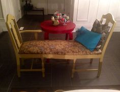 Up cycled Chair Chaise & Bench