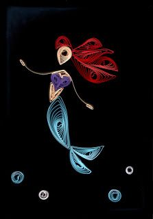 Arts and Witch Crafts: Disney Quilling! The Little Mermaid