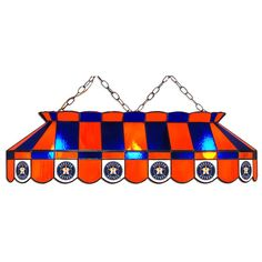 Houston Astros MLB 40 Inch Billiards Stained Glass Lamp