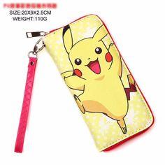 Pokemon Pikachu Long Zipper Wallet with Strap