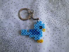 Porte clé oiseau en perles Hama.