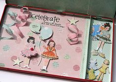 would be a really cute invitation or take home favor for a paper doll party