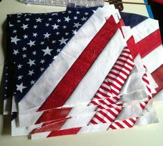 Patriotic quilts of honor - Google Search American Quilt, Patriotic Quilts, Easy Quilts, Scrappy Quilts, Mini Quilts, Jellyroll Quilts, Block Quilt, Quilt Blocks Easy, Strip Quilts