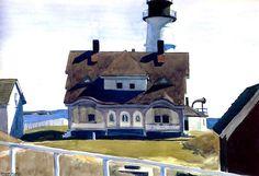 Edward Hopper – Captain Strout's House, Portland Head  1927