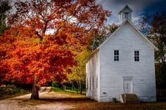 A quaint country church. Abandoned Churches, Old Churches, Abandoned Places, My Father's House, Tiny House, Old Country Churches, Country Barns, Take Me To Church, Church Building