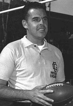 A photo of Otto Graham in 1959 while serving as football coach at the U.S. Coast Guard Academy.