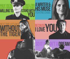 Love the colors! Castle & Beckett ~ through the seasons