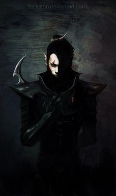 Dark Eldar: Marquis Loray by Beckjann on DeviantArt Warhammer 40k Art, Warhammer Fantasy, Fantasy Rpg, Dark Fantasy Art, Eldar 40k, Dark Eldar, Fantasy Character Design, Character Inspiration, Character Art