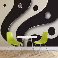 Abstract Modern Pattern Black White Fotótapéta, Fali tapéta, Tapéta az Europosters.hu-n Eames, Modern, Black And White, Chair, Pattern, Furniture, Home Decor, Trendy Tree, Decoration Home