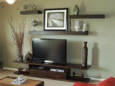 decorating around your tv | decorating around a flat screen