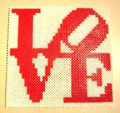 Philadelphia Brotherly Love Perler Bead Art by SandCbeadworks