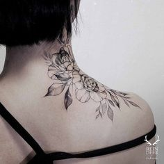 Rose Tatttoo on Neck by Zihwa 1