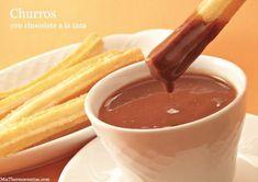 Churros - Recetas Thermomix | MisThermorecetas Dried Fruit, Chocolate Fondue, Brunch, Breakfast, Tableware, Desserts, Recipes, Food, Husband