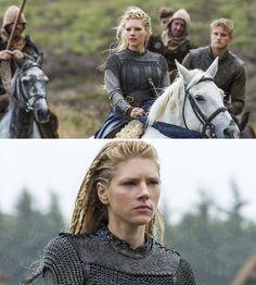 Vikings (series 2013 - ) Starring: Katheryn Winnick as Lagertha, Ragnar's first wife; and Alexander Ludwig as Bjorn Lothbrok, their grown son.