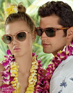 Lindsey Wixson and Sean O'Pry model Ralph Lauren for Americana Manhasset's spring 2016 campaign Celebrating 60 years, Long Island, New York-based Editorial Photography, Fashion Photography, Lindsey Wixson, Sean O'pry, Dress Bra, Embellished Skirt, Hula Girl, Floral Print Skirt, Spring Summer 2016
