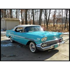 Love that color! Lot S173 1958 Chevrolet Impala Convertible 348 CI  Dana Mecum's 25th Original Spring Classic Auction May 15-20, 2012 This Lot scheduled to be sold SAT 2:55PM