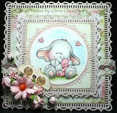 Lovely little Bella with Teddy. For more info - http://ascrappersmusings.blogspot.com/2015/07/bella-with-teddy-sweet-as-sugar-card.html