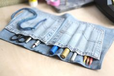 Stifterolle aus alter Jeans |Upcycling und DIY