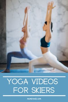 Free video resources to add into your off-mountain ski workout routine to help develop balance and flexibility. #yoga Get Moving, Yoga Videos, Feel Good, Flexibility, Skiing, Health Fitness, Mountain, Ads, Workout