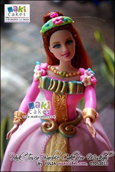 Pink Tosca Barbie Cake for Miskah_ - Maki Cakes by *Yulia*, via Flickr