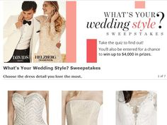 Winner takes home a $5,000.00 Kleinfeld Bridal Gift Card towards ...