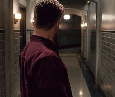 Demon Dean hunting Sammy in the Men of Letters Bunker. His fraking hair just does things to me.