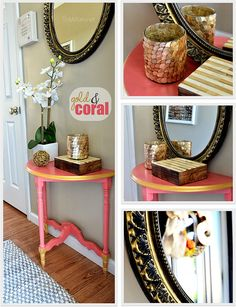 DIY Gold & Coral Tab