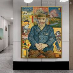 Let this van gogh Pere Tanguy painting print help you make your lobby space more beautiful and exclusive. Painting Prints, Wall Art Prints, Canvas Prints, Van Gogh Prints, Online Art Store, Impressionist Artists, Vincent Van Gogh, Space, Artwork