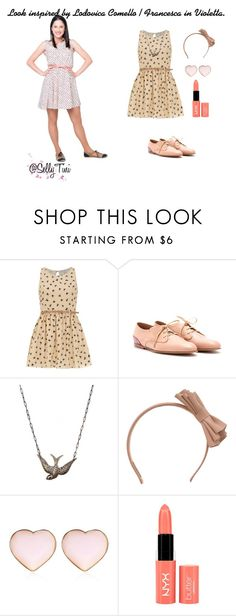 """Look inspired by Lodovica Comello / Francesca in Violetta."" by sellytini ❤ liked on Polyvore featuring Disney, Dorothy Perkins, Chloé, RED Valentino, River Island, women's clothing, women, female, woman and misses"