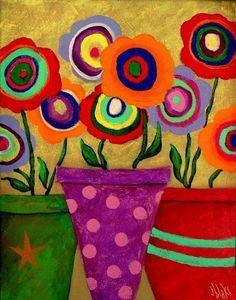 29 Ideas For Bohemian Art Painting Canvases Abstract Folk Art Flowers, Abstract Flowers, Flower Art, Painting Flowers, Painting Tips, Painting Art, Watercolor Painting, Art Floral, Art Fantaisiste