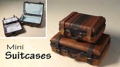 Simple Miniature Suitcase Tutorial - Dolls/Dollhouse
