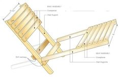Portable Project: Take your own chair with you when attending outdoor events. This fold-up chair is easy to carry and comfortable to sit on. Fold Up Chairs, Outdoor Folding Chairs, Wood Folding Chair, Folding Beach Chair, Outdoor Furniture Chairs, Wicker Chairs, Upholstered Chairs, Dining Chairs, Cheap Chairs