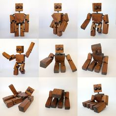 Wooden character for stop motion.