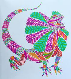 #milliemarotta #adultcolouring #colouringbook #colouringinforgrownups #art #colour #color #illustration #staedtler #mystaedtler #ink #pen #pens #wildsavannah