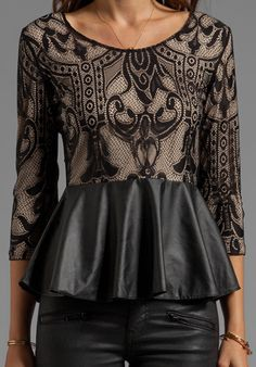 pretty peplum. love this detailing!