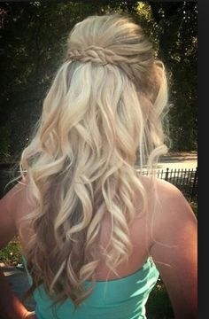 Soft waves with braid around the back.